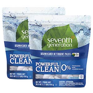 Seventh Generation Free and Clear Dishwashing Detergent Packs