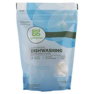 Grab Green Automatic Dishwashing Detergent Pods - Fragrance Free